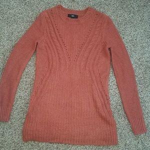 Mossimo XS sweater tunic rust coral